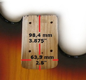 standard bass neck pocket
