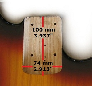 standard bass neck pocket 5 strings